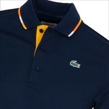 Lacoste Sport Polo Shirt BNWT size XXXXL (9) Navy Blue Ultra Dry Fit Mens DH3122
