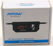 Mpow Streambot Oblong FM Transmitter Car Stereo Adapter **New**