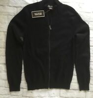 NWT Michael Kors Men's BLACK Full Zip Sweater Cardigan Size S Retail $129