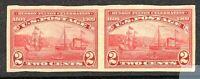 [MC2]...US #373 Mint-LH 1909 Imperf. Hudson-Fulton Pair