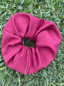 Plain Maroon Scrunchies