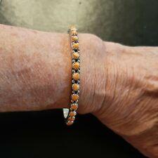 Sterling & Spiny Oyster Bangle Bracelet SNAKE EYES