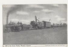 Canada, Off To The Grain Fields, Western Canada, Traction Engine Postcard, B122