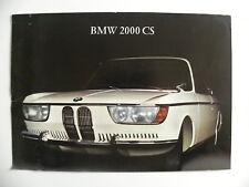 Brochure BMW 2000 CS de 01 / 1966 en français