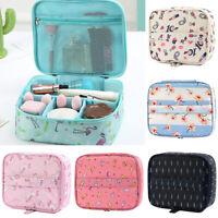 Ladies Make Up Bag Vanity Case Cosmetic Nail Tech Storage Beauty Nylon Box