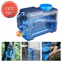 12L Outdoor Water Bucket Portable Tank Container with Faucet for Camping Picnic