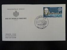 MONACO PREMIER JOUR FDC YVERT  1229      ROTARY INTERNATIONAL     1,80F     1980