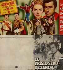 Año 1952. Programa de CINE Doble. Título película: El Prisionero de Zenda.