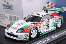 EBBRO 43231 1:43 TOYOTA CASTROL TOM'S SUPRA JGTC 2001 DIE CAST MODEL RACING CAR