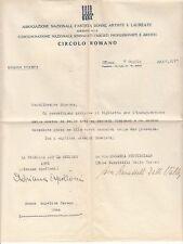 8846) AUTOGRAFO DELLA SCULTRICE ADRIANA APOLLONI DI CONTARINA, ROVIGO.