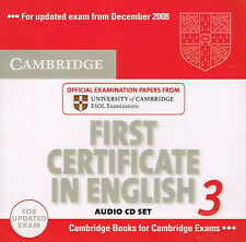 FCE Cambridge FIRST CERTIFICATE IN ENGLISH 3 Audio CD Set @NEW SEALED 2CD's@