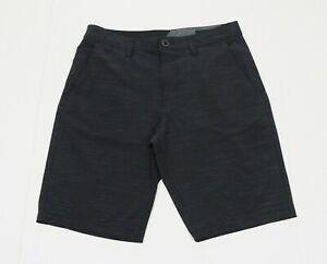 Volcom Surf & Turf Black Tech Casual Stretch Hybrid Shorts Mens 31
