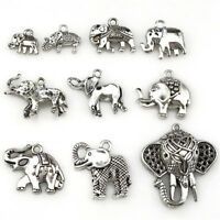 22400 10pcs Antique Vintage Elephant Pendant Charm Diy Jewelry Marking