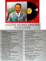 LP Ralph Maria Siegel - Alte & Neue - Gute Bekannte (Jupiter J-33) D 1971
