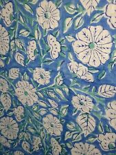 100% Cotton Thin Fabric Made in India Apparel Voile Block Print Pre-Washed