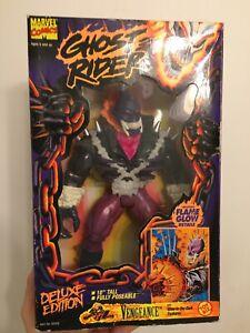 "RARE Ghost Rider VTG 1995 Marvel Vengence 10"" Action Figure (See All Pics)"