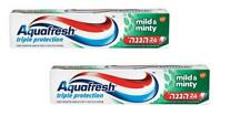 2X Aquafresh Mild & Minty Toothpaste 24 Hours Triple Protection 100 gr 3.5 oz