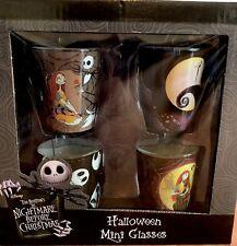 The Nightmare Before Christmas Mini Glasses Shot Glass Set 4 Disney Licensed NEW