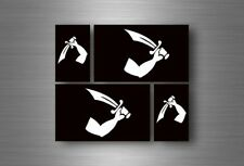 4x adesivi adesivo sticker bandiera vinyl tuning pirata teschio pirati r9