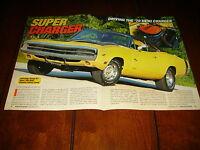 1970 DODGE HEMI CHARGER R/T - ORIGINAL 2000 ARTICLE