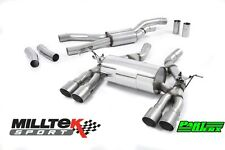 BMW M3 F80 MILLTEK Sport Cat Back Exhaust System 4x Titanium GT90 Tips EC TUV
