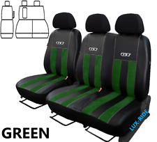 FORD TRANSIT Mk8 2016 - 2020 ARTIFICIAL LEATHER & ALICANTE TAILORED SEAT COVERS