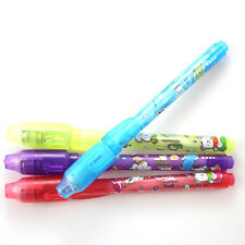 Invisible ink pen and UV black light combo secret spy message WB