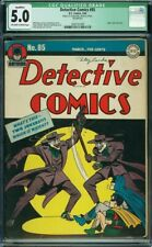Detective Comics #85 CGC 5.0 Qualified Early Classic Double Joker Cover Rare!