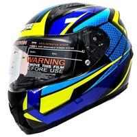 DOT Full Face Motorcycle Helmet Sun Visor Go-kart Motocross Racing Sport Helmet