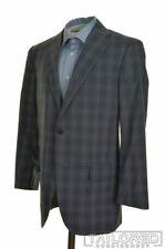 CORNELIANI Blue Plaid Check 100% Wool Blazer Sport Coat Jacket - EU 50 / US 40 R