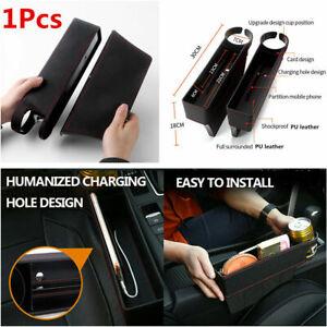 1Pcs PU Leather Car Seat Crevice Storage Box Gap Filler Cup Holder Accessories