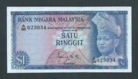 F.C. MALASIA MALAYSIA , 1 RINGGIT 1967/72 , S/C ( UNC ) , P.1a .