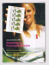 NEDERLAND JAARCOLLECTIE POSTZEGELVELLETJES 2000