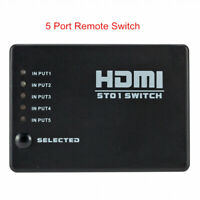 3/5 Port HDMI Switch Switcher Splitter 1080p Selector Hub Remoe For HDTV PS3