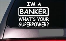 Banker sticker decal *G350* banking computer executive ceo desk chair suit