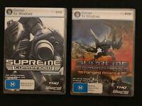 Supreme Commander 1 & 2 Forged Alliance RARE PC DVD-ROM