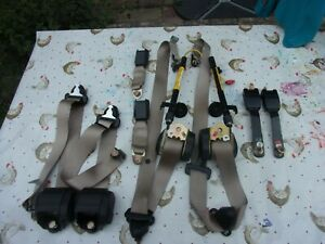 Classic Rover Mini MPI Cream Seat belts - Complete Car Set