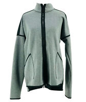 C9 Champion Women's Heather Gray Long Sleeve Full Zip Athletic Jacket Medium NEW