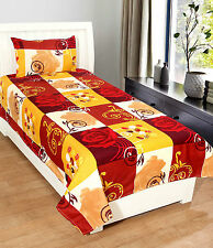 Homefab India 3D Printed PolyCotton Single Bed-Sheet (Single193)