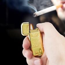 Fashion Gold Bar Shape Cigarette Lighter Butane Gas Grinding Wheel Lighter New