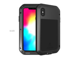 Love Mei Shockproof Aluminum Metal Gorilla Glass Hard Case Cover For Cell Phones