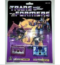 Transformer G1 decepticons cassette ratbat & frenzy mint shipped by speedpak