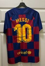 Lionel Messi #10 Barcelona Soccer NIKE Jersey Size M NEW w/ Tags Auction #1