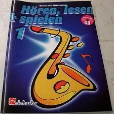 """ALT-SAXOPHON-SCHULE  DHP 0991748-400  """"HÖREN - LESEN & SPIELEN"""" MIT CD  BAND 1"""