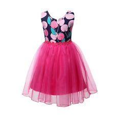 NEW Kid Girl Spring Summer Party Birthday Ball Prom Fancy Dress Peach SZ 9 Z16F