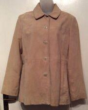 Gap Women's Beige Genuine Suede Leather Jacket Size M/M
