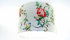 "30cm / 12"" Lampshade Handmade with Cath Kidston Birds and Roses White Wallpaper"