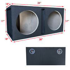 "Pro Dual 15"" Ported Subwoofer Enclosure Car Audio Speaker Box All Mdf"