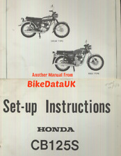 Honda CB125S CB125J (1976 >>) Official Factory PDI Set-Up Manual CB 125 S J CT56
