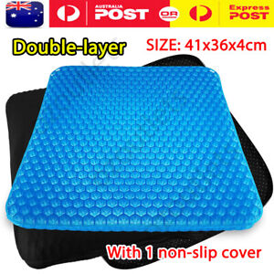 2 Layer Gel Honeycomb Seat Comfort Flex Cushion Back Support Spine Pain Relief